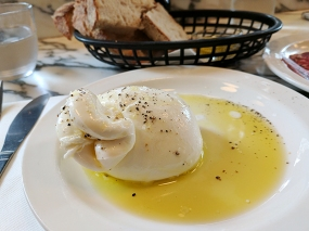Padella: Wiltshire Burrata with San Rocco olive oil