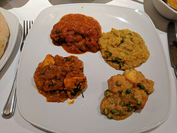 Ajanta: Everything on one plate.