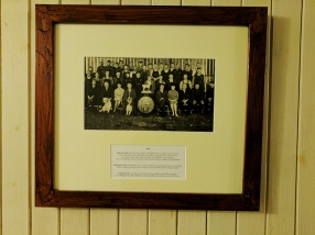 Pictures of distillery staff from days gone by.