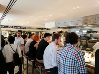 Barrafina, Soho: Lunch crowd