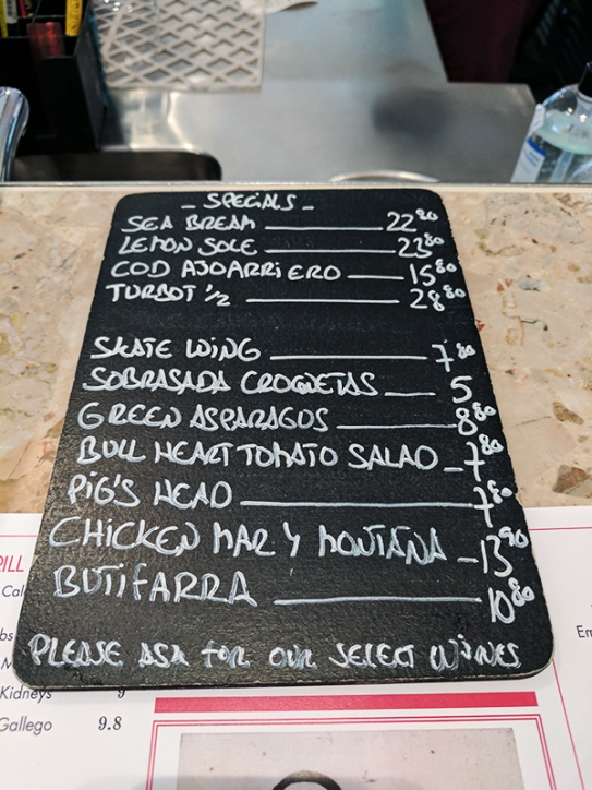 Barrafina, Covent Garden: Specials