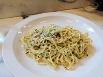 Padella: Tagliarini with Dorset crab, chilli & lemon