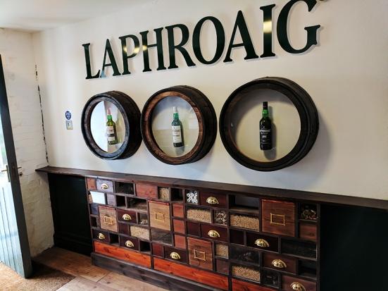Laphroaig: You go in