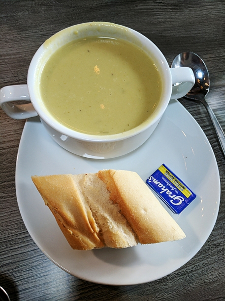 It was cream of broccoli soup.