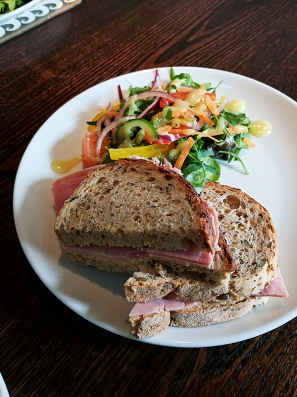 The Old Kiln Cafe: Ham sandwich