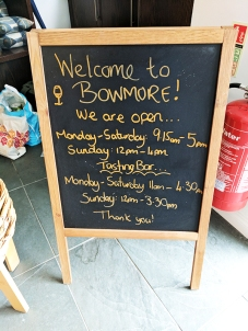 Bowmore: Shop and tasting room hours