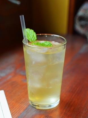 Hoppers: Green mango ice tea