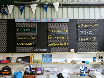 The Oyster Shed: Menu