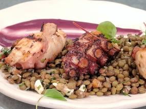 Ceviche: Pulpo al olivo