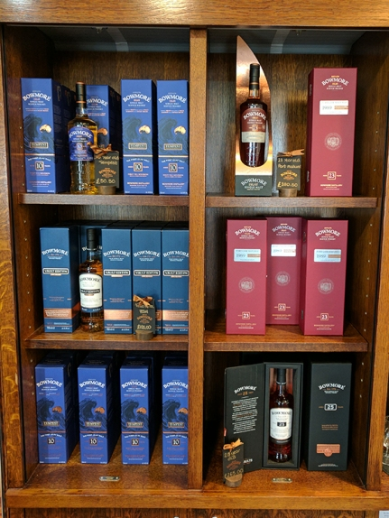 Bowmore: More expensive bottles