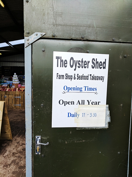 The Oyster Shed: Opening times