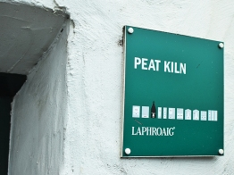Laphroaig, Distillers' Wares: Yes, it's a peat kiln