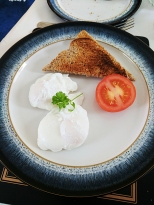 Poached eggs by themselves are pretty good too.