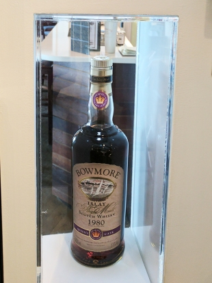 One of two bottles presented to the distillery.