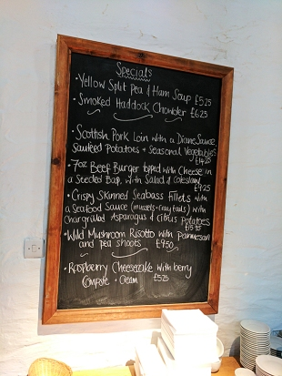 The Old Kiln Cafe: Specials on our first visit
