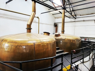 Bowmore: Copper water tanks
