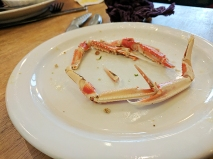 When you have small boys langoustines work as both food and toys.