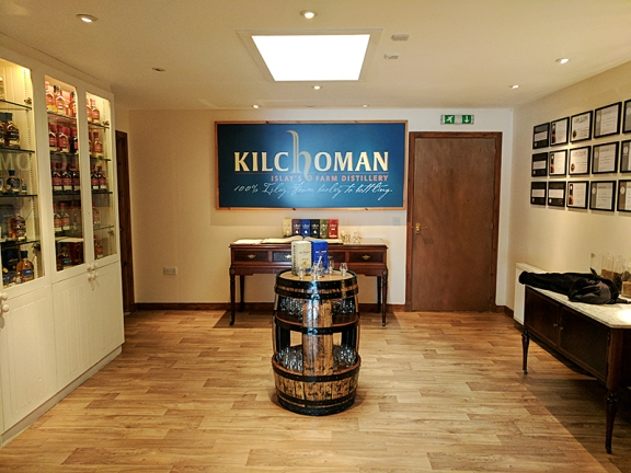 This room seemed to contain an archive of Kilchoman bottlings.