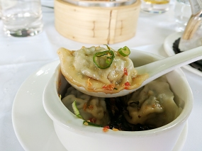 Royal China, Canary Wharf: Minced pork and chive dumpling