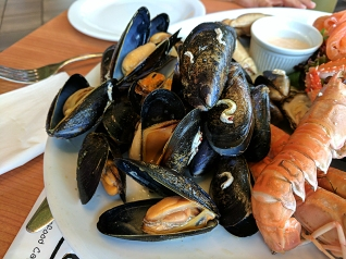 I miss Scottish mussels.