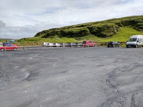 Kilchoman: Parking lot