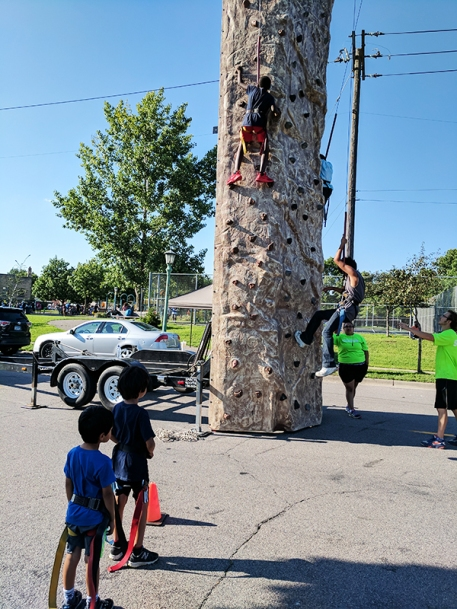4th Annual Little Africa Fest: Climbing wall