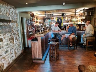 An attractive bar as you enter.