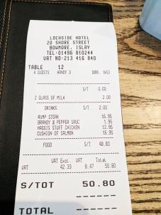 The Lochside Hotel: The bill