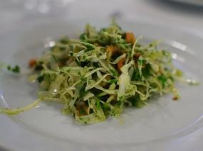 St. John: Brown shrimp and white cabbage