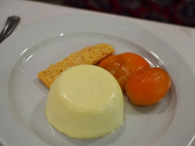St. John: Buttermilk pudding and peach