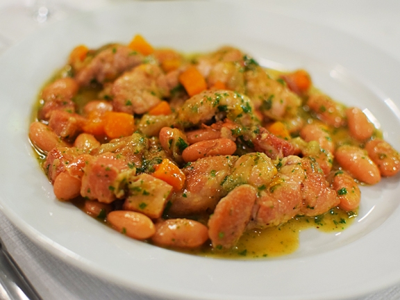 St. John: Lamb sweetbreads, borlotti beans and bacon
