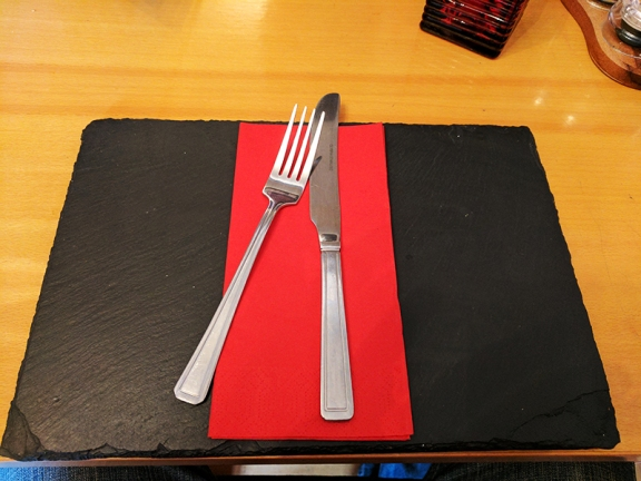 The Anchorage Bistro: I quite liked these placemats