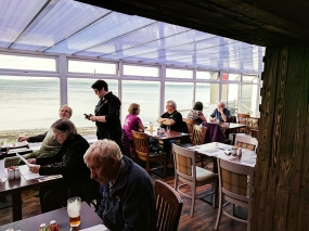 Overlooking Loch Indaal; the food probably tastes better here.
