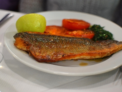 St. John: Sea bass, tomato and green sauce