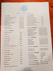 Munich Cricket Club: Beer menu