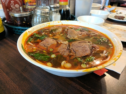 Their bun bo hue broth is also lighter than usual.