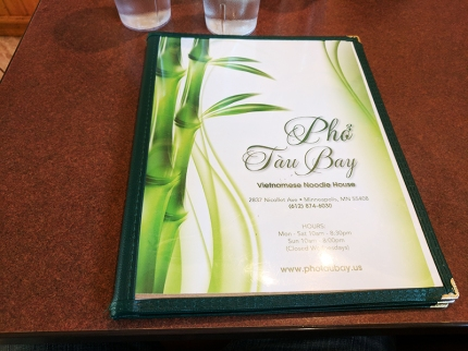 Pho Tau Bay: Menu
