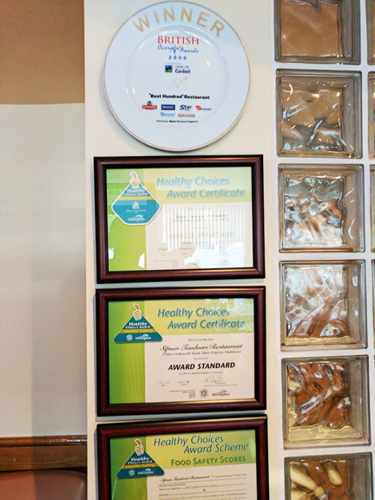 Sipson Tandoori: Awards