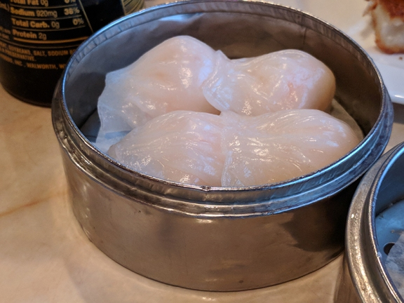 The dumplings were stuck to each other and the steamer and all but fell apart when picked up.