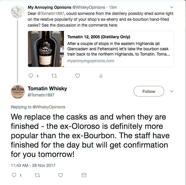 Tomatin response