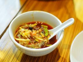 Ma La Sichuan: Potato Noodles closeup