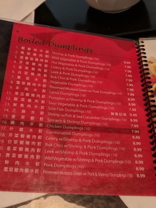 101 Noodle Express: Menu, dumplings