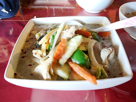 Thai Garden: Green curry with pork