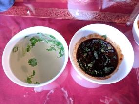 Thai Garden: Accompanying sauce/soup