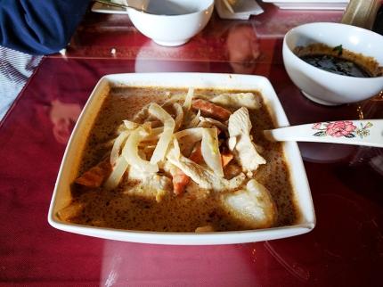 Thai Garden: Massaman curry with chicken
