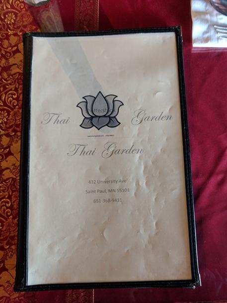 Thai Garden: Menu