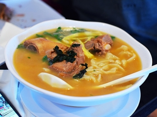 With hand-torn noodles, this was a huge hit among the old and very young alike.