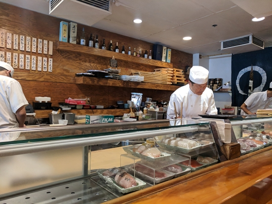 Osawa: Our sushi chef at work