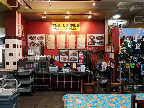 None at Thai Corner.