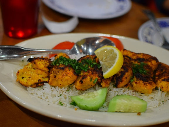 And this. other than the lemon hit, was like a good north Indian chicken tikka. We got two orders.